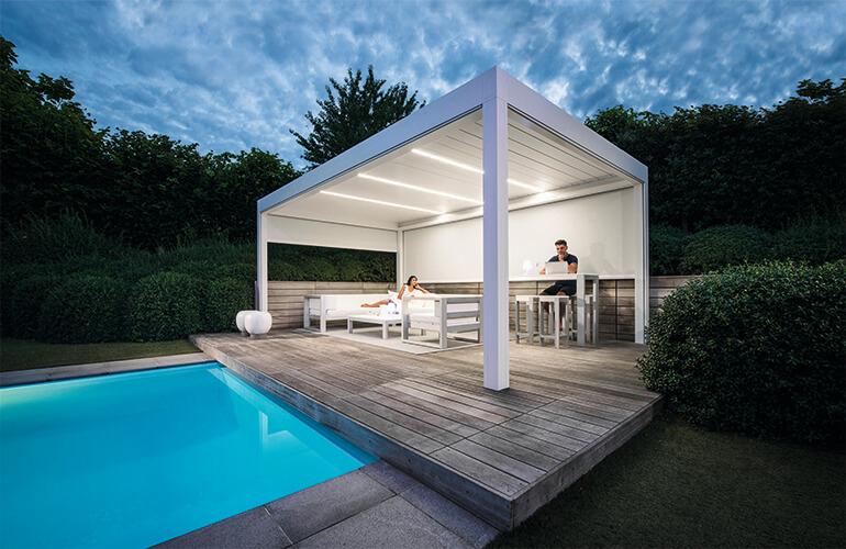 Le duo antistress de votre jardin : piscine et salon lounge ...