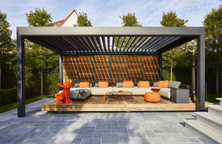 A Renson Pergola Outside And Yet Inside Renson Outdoor